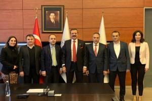 TPF Heyeti, TOBB Başkanı  Hisarcıklıoğlu'nu ziyaret etti