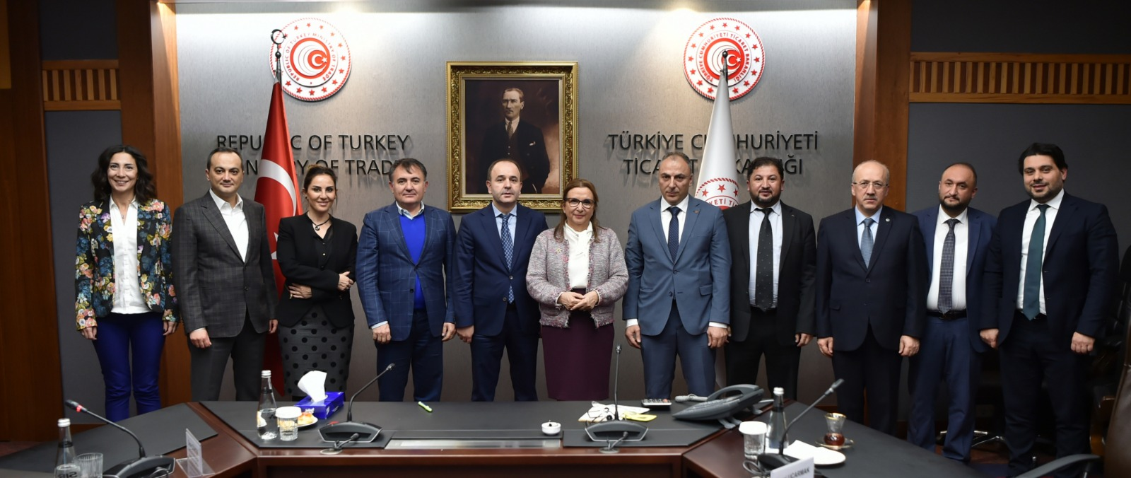 TPF, Ticaret Bakanı Ruhsar Pekcan'ı ziyaret etti