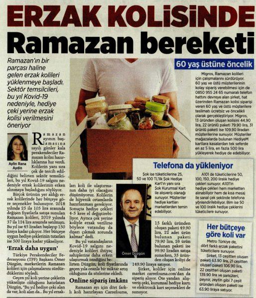 Erzak kolisinde Ramazan bereketi