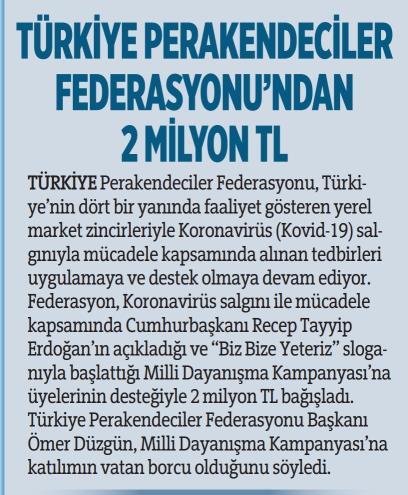 TPF'den 2 milyon TL